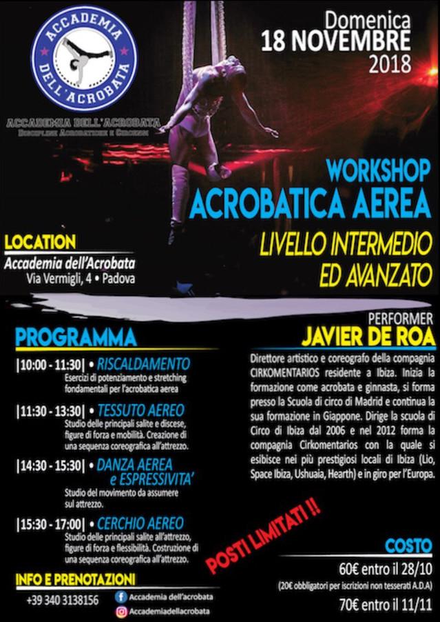 JAVIER DE ROA – Workshop di acrobatica aerea